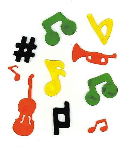 Amazon Music Treasures Co Molded Music Symbol Stikee Pak 3