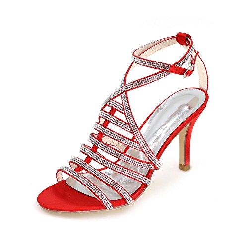 L fiesta Red primavera Sandalias De Boda yc falda Brillante Las Boda verano Y Noche Mujeres zapatos otoño La frfwcqZpW