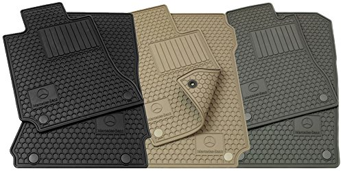 Mercedes-Benz OEM All Weather Season Floor Mats 2001 to 2007 C-Class RWD (Color:Black) 2007 Mercedes Benz C-class Wagon