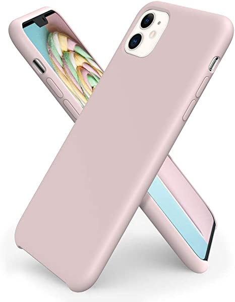 CUSTODIA APPLE IN SILICONE PER IPHONE 11 PRO MAX - ROSA SABBIA
