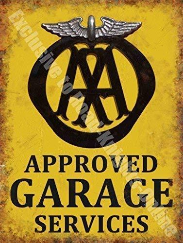 AA Aprobado Garaje Servicios Desglose Vintage Taller Metal ...