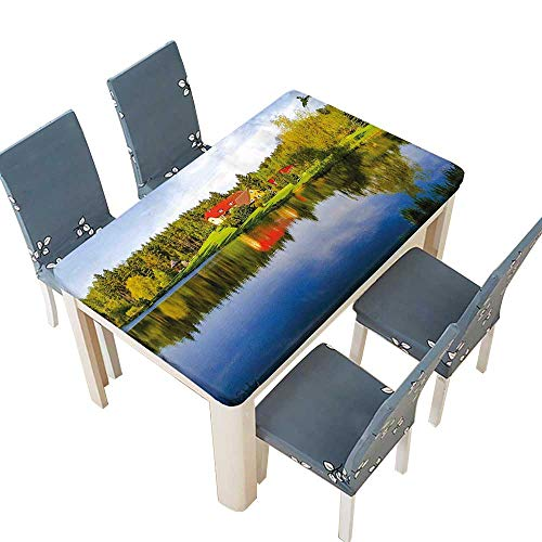 PINAFORE Tablecloth Waterproof Polyester Table in Forest Riverside