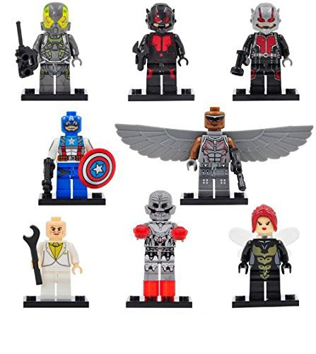 8pcs Minifigures ClassicToys FiguresHeroes Minifigures [With Weapon] Educational Toys Minifigures DIY Building Blocks (Nick Fury Costume Party City)