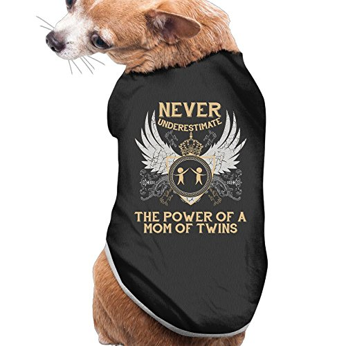 YRROWN Special Design The Power Of A Mom Of Twins Dog Coats