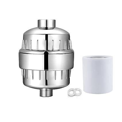 Cartucho de filtro de ducha filtro de agua reemplazable con múltiples alta salida cromado Universal conexión