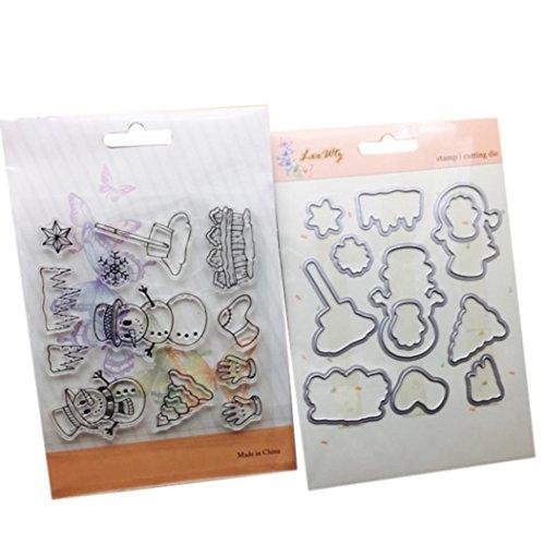 Fheave Metal Cutting Dies Stamp Stencils DIY Scrapbooking Photo Album Decor Embossing Cards Best Christmas Gift (B)