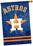 Houston Astros NEW LOGO 2-sided 28x44 Premium Embroidered Applique Banner Flag Baseball