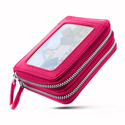 Womens Wallet Small double-zipper Wallet Mini Wallet Card Holder coin purse by QinFeng (Image #7)