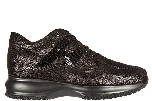 Hogan chaussures baskets sneakers femme en cuir interactive h micro paillettes c