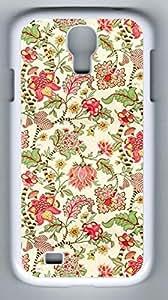 Flower Pattern Hard Cover Back Case For Samsung Galaxy S4,PC Fashion White Case for Samsung Galaxy S4
