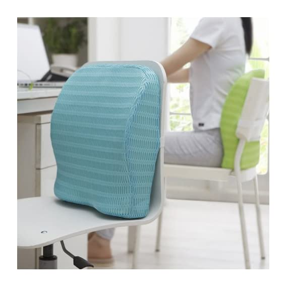 HealthSense Soft-Spot BC 21 Orthopedic Backrest Cushion with Memory Foam for Study, Home, Office chair & Sofa with