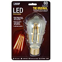 Feit BPST19/LED The Original Vintage Style Bulb 60W Edison Equivalent Medium Base Clear Dimmable LED Light