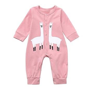 b86c4bec0c6b Amazon.com  Baby Winter Romper Cartoon Pajamas Jumpsuit Outfits for ...