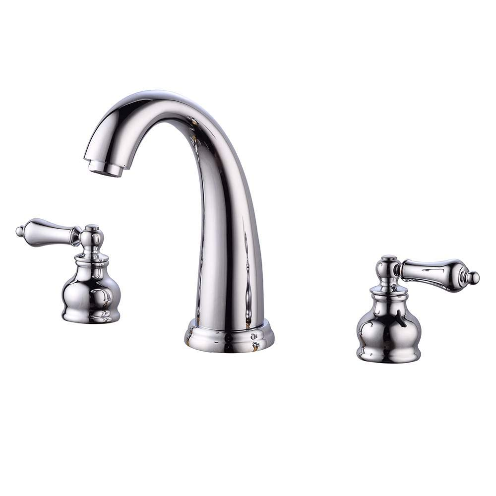 Binlin Waterfall Bathroom Faucet,3 Holes Bath Basin Faucet Deck Mount Dual Handles Chrome Brass Vanity Mixer Tap