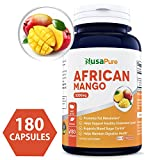 Best African Mango Cleanse 5000MG per Caps 180 Capsules (NON-GMO & Gluten Free) Extra Strong Pure 100% Fat Burner, Fast Weight Loss Diet Pills, Detox Drops Slim Prime – 100% Money Back Guarantee! Review