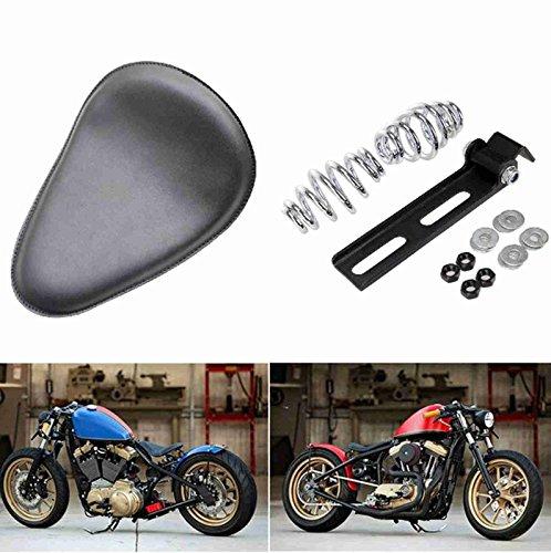 SOLO Seat, Springs Bracket Mount Kit Plain Black For Yamaha Honda Harley Sportster Dyna Chopper Bobber Custom
