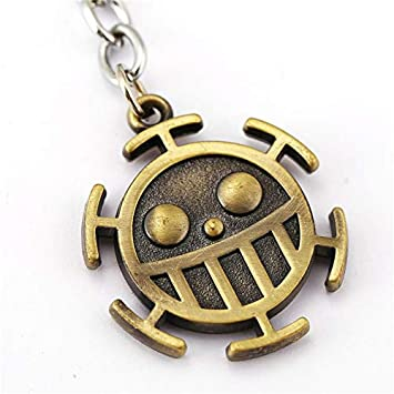 One Piece Llavero de Metal Trafalgar Law Logo Heart Pirates ...