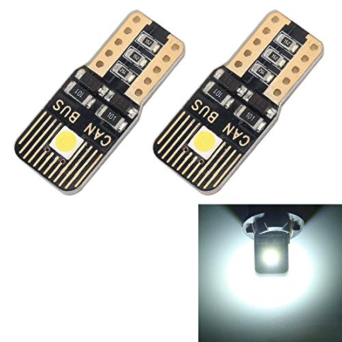 Car Bulbs 2 PCS T10 / W5W / 168/194 DC12V / 1.3W / 6000K / 110LM 2LEDs SMD-3030 Car Light, with - Decoder 1.3a
