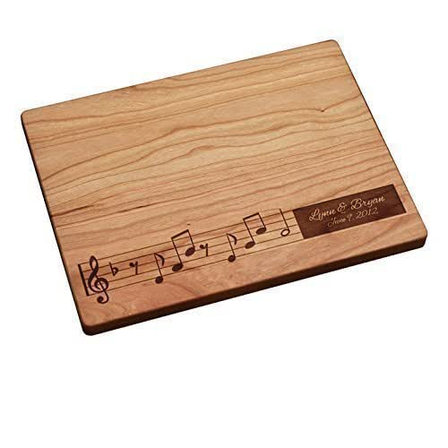 engraved cutting board personalized cutting board notes handmade 29633