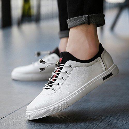 CSDM Scarpe da piattino di degli uomini della piattaforma Scarpe da pallacanestro Sport di running delle scarpe da tennis dello studente di gioventù , white , 44