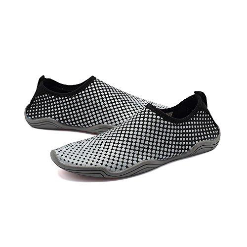 Blankey Eau Chaussures De Sport À Séchage Rapide Pieds Nus Souple Appartements Plage Maillot De Bain Pour Hommes Femmes Enfants Gris Nid Dabeille