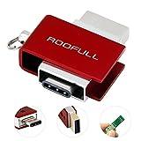ROOFULL 64GB USB 3.0 Type-C Flash Drive Mini Waterproof USB-C Memory Stick for Type C MacBook Phones Tablets (Red)