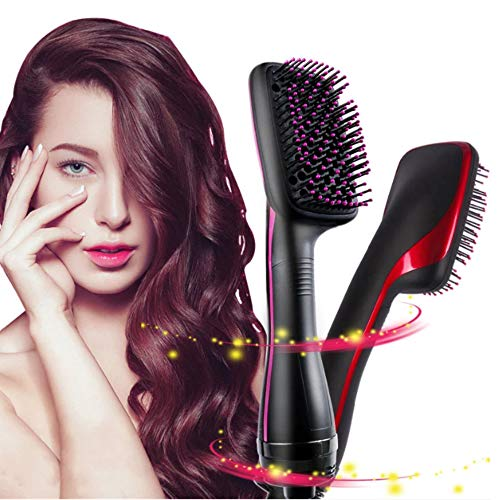 Hot air brush one step hair dryer and molding machine multi-function combing hot comb wet dry straight curling massage for salon home blower -  ZQG BEAUTY, 894-113