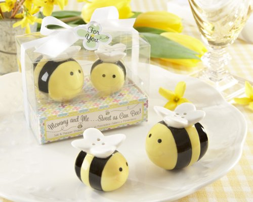 84 SETS ''Mommy and Me...Sweet as Can Bee'' Honeybee Salt & Pepper Shakers by Kateaspen