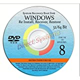 NEW WINDOWS 8 ANY & ALL Versions of 64 Bit Home Basic, Home Premium, Professional, or Ultimate, Repair, Recovery, Restore, Re Install, Reinstall, Re-install & Reboot Fix Boot Disk DVD