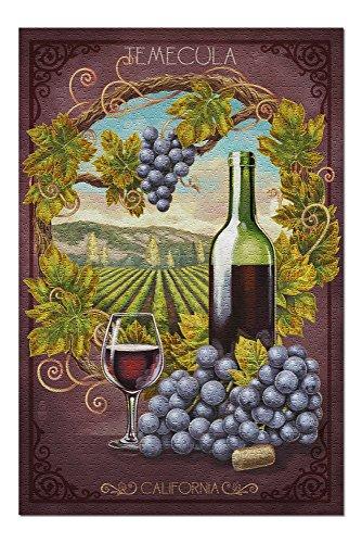 Temecula, California - Merlot Wine Scene (20x30 Premium 1000 Piece Jigsaw Puzzle, Made in ()