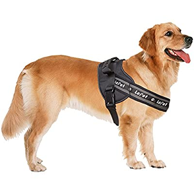 Dog Training Vest Harness LePet Dog No Pull Harness,Dog Harness with Padded Vest,Dog Halter Harness with Plastic Handle and Reflective line for Dog, Suitable for Large Dogs (XL)