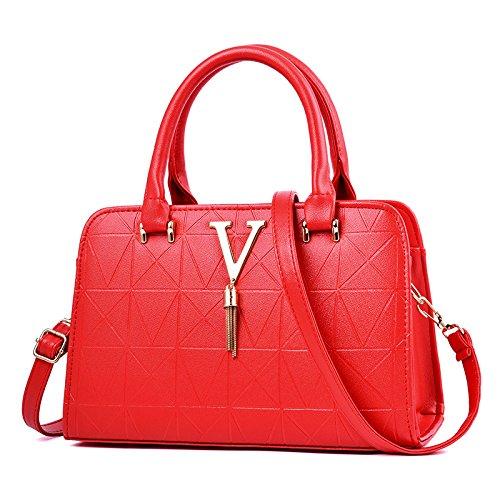 GUANGMING77 Señoras Bolso Bolso _ Todo Coincide Con La Sra.,Azul Marino Red red