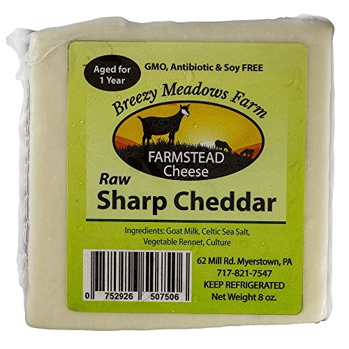 (BREEZY MEADOWS FARM RAW SHARP CHEDDAR (GOAT MILK ONLY) 8 OZ)
