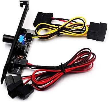 Acreny - Regulador de Velocidad de Ventilador Big 4P Port pequeño ...