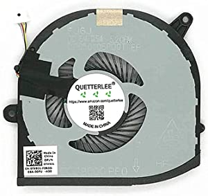 QUETTERLEE Replacement New GPU Cooling Fan for Dell XPS 15 9570 9560 XPS 9570 Laptop 15.6 XPS9570-7996SLV-PUS Series 0TK9J1 DFS501105PQ0T FJ6J GPU Fan