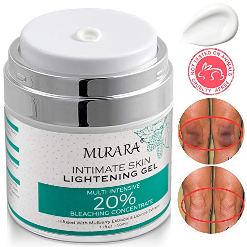MURARA Intimate Skin Whitening Cream For Face, Lightening Cream for Body, Armpits, Knees, Elbows, Sensitive & Private Areas, Whitens, Nourishes, Brightens & Restores Underarm Skin -1.7 Oz