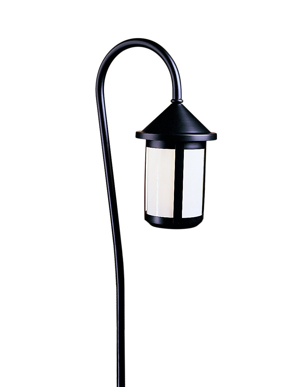 Arroyo Craftsman LV36-B6GW-BZ Low Voltage Berkeley Light Fixture with 36'' Bo Peep Stem, 6'', Bronze Metal Finish, Gold White Iridescent Glass