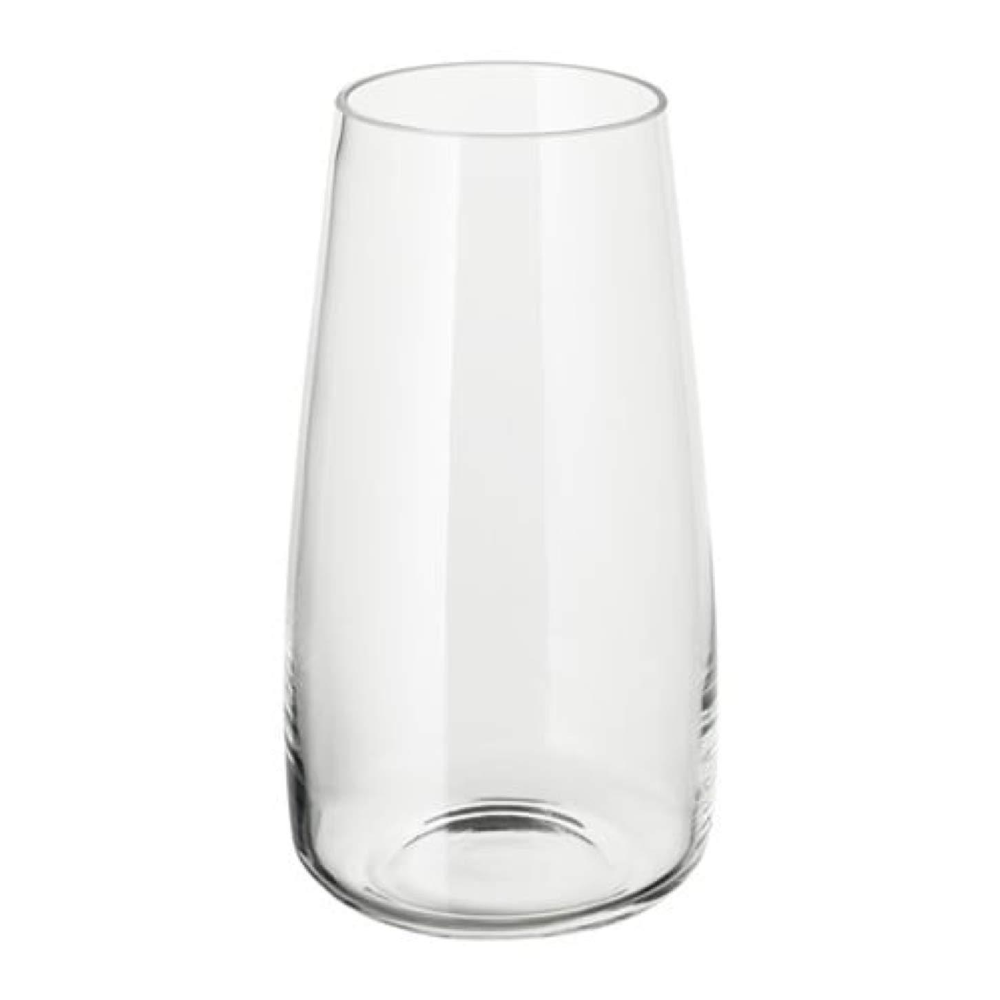 Amazon Com Ikea Berakna Vase Clear Glass 204 062 97 Size 11