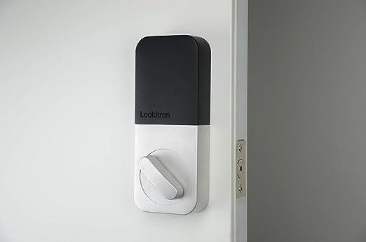 Lockitron TRON200QS Bolt Alexa Enabled Smart Lock, Quicksilver ...
