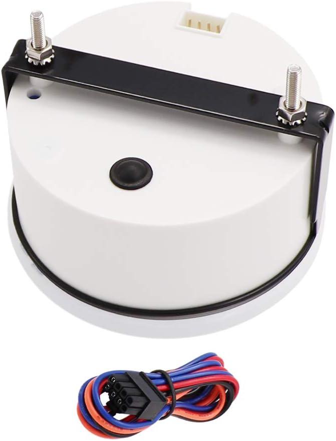 85mm Marine Tachometer Gauge Waterproof with LCD Digital Hour Meter Clock 3000 RPM 12V//24V Backlight for Car Truck Boat