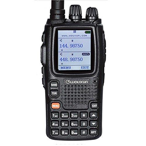 Talkie Walkie Radio Appareil Wouxun uv9d Plus Double bande VHF UHF Two Way Radio Ham 2–5Miles étanche IP55PMR 446handfunkgerät (Lot de 2)