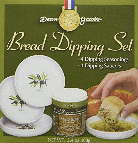 Dean Jacob's 5 Piece Melamine Bread Dipping Set ~ 2.4 oz.