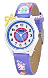 Dovoda Watch for Girls Easy Reader Time Teacher Bows Leather Kids Watches