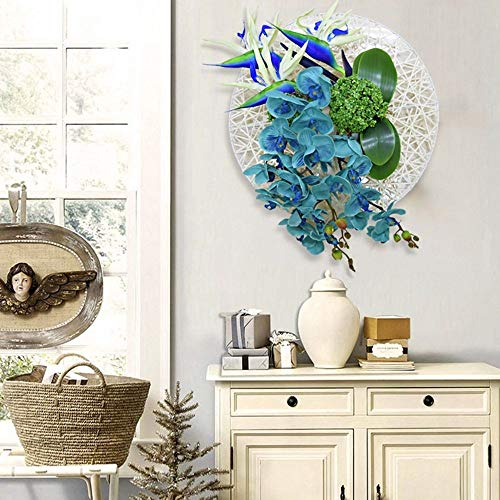 (YUEQISONG Wall Decoration Europe America-Style Hanging Vase Flower Basket Wall Wall Pendant Pastoral Family Home Floral Ornaments Wall Art, 5065cm)