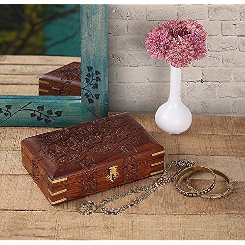 Storeindya Handmade Wooden Jewelry Box