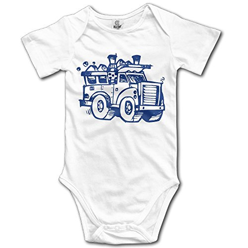 Infant Baby Clothes I Heart Love Trash Garbage Trucks Short Sleeve Romper Bodysuit Jumpsuit Baby Clothes Outfits 18 Months (White Trash Outfit)