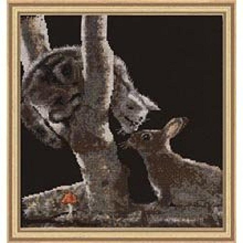 Cross My Heart Midnight Rendezvous (Kitty & Bunny) Counted Cross Stitch Kit