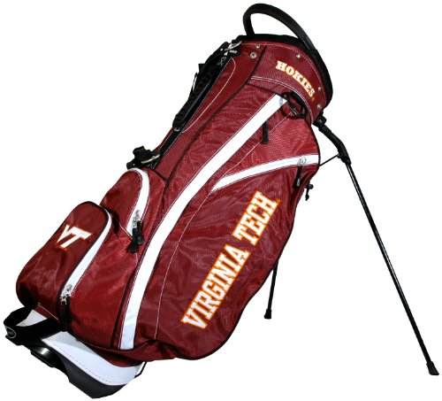 Team Golf NCAA Virginia Tech Hokies Fairway Golf Stand Bag, Lightweight, 14-way Top, Spring Action Stand, Insulated Cooler Pocket, Padded Strap, Umbrella Holder & Removable Rain Hood