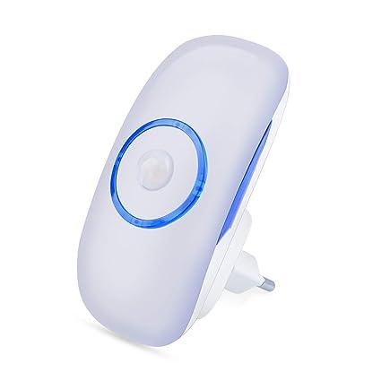 luz nocturna LED, luz nocturna enchufe con sensor de movimiento crepuscular Sensor Lámpara Nocturna para