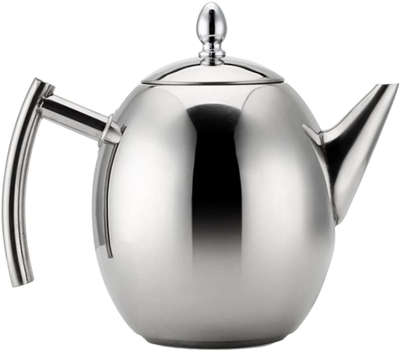 Stainless Steel TeaPot Coffee Tea Pot Water Kettle Strainer Infuser Filter